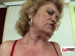 Gilf gets down and dirty with horny lovers big cock in her cunt