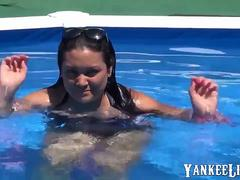 Thick Spanish Mom Fuck Hard Near Outdoor Pool