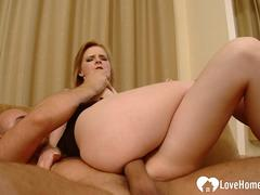 Beautiful blonde gets her bunghole plowed hard
