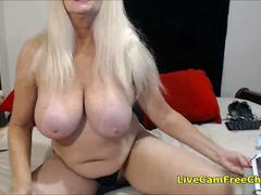 Pushing 60 Hot Canadian Blonde Granny with Huge Tits