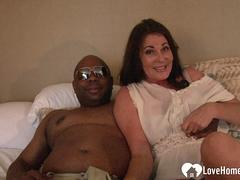 Black guy fucks a horny lonely wife