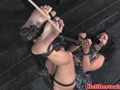Canned submissive slave getting humiliated
