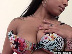 Busty Ebony Queen Plays With Herself