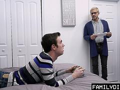 FamilyDick - Irresponsible Guy Taught A Hard Anal Lesson By His Hung StepDaddy