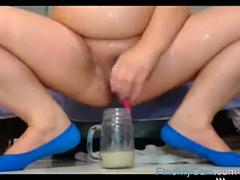 bbw creamy squirt into glass part 3 video
