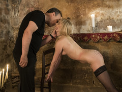 Hot blonde in submission gets tortured and loves it