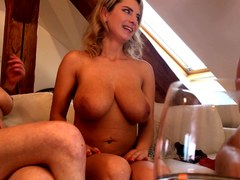 BIG TITS GOES WILD, 3 Sexy Hottest Lesbians Go FULL NAKED House Party