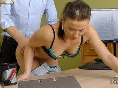 loan4k. fraces likes new loan agent so agrees to fuck for money film