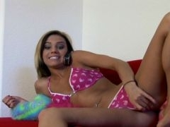 Sinfully tanned blond teen ex-girlfriend Addison