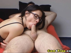 Horny Nerd Babe Awesome Fucking With Hot Neighbor
