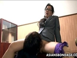 Corporate big ass Asian bitch getting doggy style thrashed