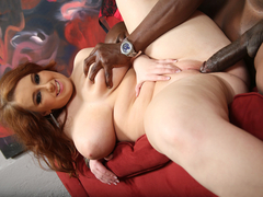 Felicia Clovers vagina gets pounded by huge black cock