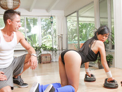 TeamSkeet - Sexy Asian Teen Fucked During Hardcore Workout