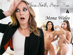 Mommys little girl is a lesbian! - Nina North, Aspen Rae and Mona Wales